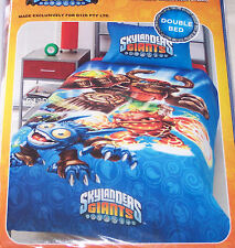 Skylanders Giants Double Bed Blue Printed Doona Quilt Cover Set Licensed New