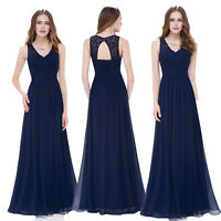 Ever Pretty Long Lace Wedding Dresses Evening Navy Blue Formal Prom Gowns 08871