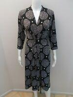 LEONA BY LEONA EDMISTON BLACK/WHITE DRESS SIZE 12      (#Z654)
