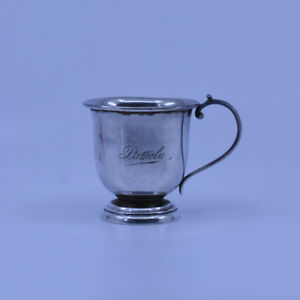 Australian J.M Dempster Sterling Silver Christening Cup, c1930's, uncommon maker