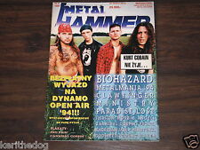 METAL HAMMER No.4/1994 polish music magazine POSTERS Cannibal , Corpse Pro Pain