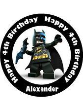 BATMAN LEGO 19CM  KOPYKAKE EDIBLE ICING IMAGE CAKE TOPPER #1