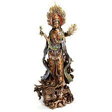 "KWAN YIN DRAGON STATUE 14"" Buddha Goddess HIGH QUALITY Quan Guan Compassion NEW"