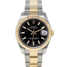 Rolex Datejust 31 Steel & Gold 178273 Wristwatch - Black Index, Oyster
