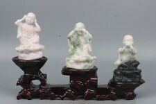 China Exquisite Hand-carved children Buddha carving Dushan jade statue