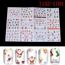 Christmas Water Transfer Nail Art Decoration Stickers Decals Xmas WL A1153-1164