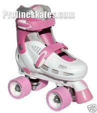 Storm-Blanc & rose réglable patins à roulettes 8-11 UK