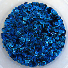 Sequins Blue 5mm Round Cup ~800 pieces Loose COD