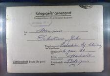 Camp Stalag XIA Altengrabow 1943 POW Prisoner Belgium Kriegsgefangenenpost  L0a