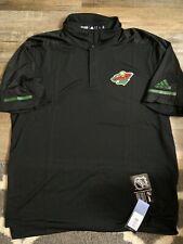 Reebok Minnesota Wild Huge Logo Black Tee Shirt L