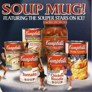Campbell's Soup--Olympic Figure Skaters--1998 Magazine Advertisement