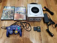Nintendo GameCube Console + Controller/Memory Card/Hookups 2 games Tested