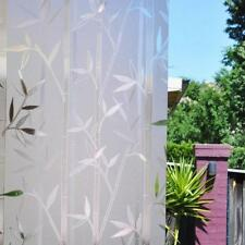 PVC 3D No Glue Static Cling Film Privacy Glass Bamboo Frosted Window Films Decor