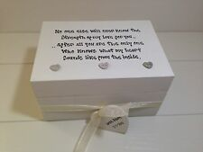 Shabby Personalised Chic Gift Box Daughter Trinket Jewellery Special Sentimental