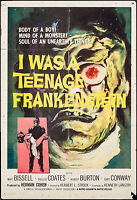 """ I WAS A TEENAGE FRANKENSTEIN ""  ORIGINAL MOVIE  POSTER"