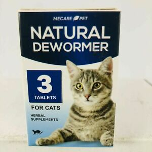 Mecare Pet Natural Dewormer For Cats - 3 Tablets - Exp. March 2022