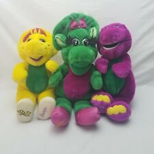Lot of 3 Vintage Barney BJ and Baby Bop Plush Toys Dolls Stuffed