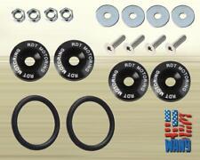 Black Quick Release Fastener Tab Bolt Nut Kit for Trunk Hood Bumper Fender Lip