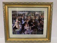 "Renoir Fine Art Print 6.5x8"" Bal du le Moulin de la Galette Ornate Frame 10x12"""