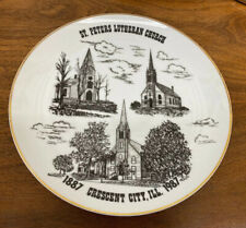 St. Peters Lutheran Church 1987 Crescent City Illinois 100 Year Plate