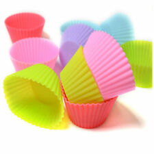12 x Multi-color Silicone Cake muffin Cupcake Mold Round Shape Baking Mould 2016