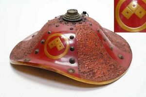 Japanese Jingasa Samurai Hat Armor Helmet Antique Edo Rare