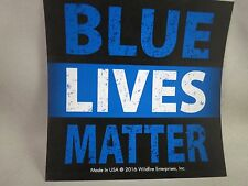 LOT OF 10 BLUE LIVES MATTER STICKER Police Black Line Law Enforcement Trump $ US