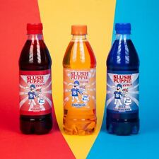 Slush Puppie 3 pack of Syrups, Blue Raspberry, Red Cherry and Tropical