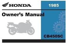 Honda 1985 CB450SC Nighthawk Owner Manual 85
