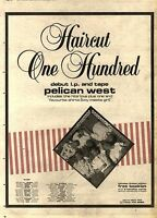 27/2/82PGN56 HAIRCUT ONE HUNDRED : PELICAN WEST DEBUT ALBUM ADVERT 15X11""