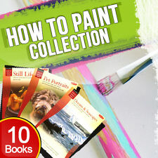 How to Paint 10 Books Collection Set Pack Clouds & Skyscapes,Landscapes,Portrait