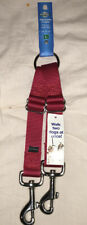 """Red Adjustable Coupler Large Fits Any Size Dog 18"""" to 23""""  Walk 2 Dogs At Once"""