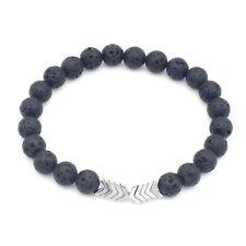 Volcanic Lava Stone Essential Oil Diffuser Bracelets Magnet Arrow Beads Bracelet