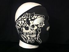 Biker Mask Skull n flowers   FULL FACE MASK