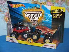 Hot Wheels Monster Jam Demolition doppie Dalmata VS Crushstation fuori Strada