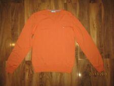 J LINDEBERG Merino Wool V Neck orange sweater Jumper Size M