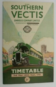 SOUTHERN VECTIS OMNIBUS MAY 1948 ~ BUS SERVICES T/T BOOKLET