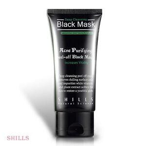 SHILLS Acne Purifying Blackhead Remover Peel-Off Black Charcoal FacialMask 50ml