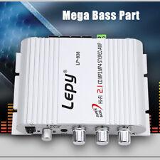 Mini Hi-Fi Bass FM Stereo Audio Amplifier 2.1 CH For Car Auto Home Speaker