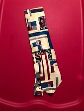"""Vintage """"Resilio� Mens Tie 100% Imported Silk. Made In Usa"""