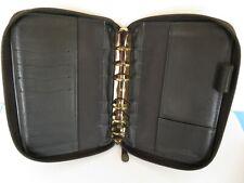 Pocket78 Rings Genuine Leather Franklin Covey Planner Binder Black Zip Usa