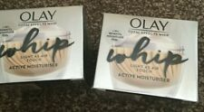 BRAND NEW SEALED X2 OLAY WHIP 7-IN-1 BENEFITS LIGHT AIR ACTIVE MOISTURISER - 50M