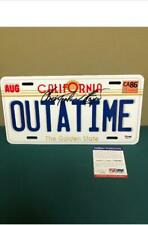 "Christopher Lloyd signed Back to the  Future ""OutaTime"" License Plate, PSA/DNA"