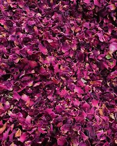 Red Burgundy Rose Petals - Natural Biodegradable Wedding Confetti,
