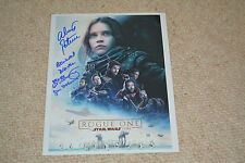 ALISTAIR PETRIE & IAN MCELHINNEY signed Autogramm In Person STAR WARS ROGUE ONE