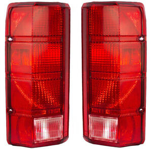 NEW PAIR OF TAIL LIGHTS FITS FORD F-150 F-250 1980-1986 E4TZ13404B E4TZ-13404-B