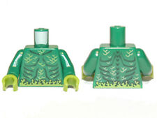 LEGO - Minifig, Torso Muscles Outline with Swamp Plants and Scales - Green
