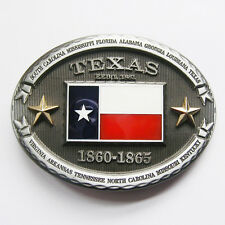 PATRIOTIC COWBOY RODEO THE LONE STAR STATE OF TEXAS FLAG BELT BUCKLE