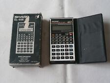 Calculatrice Vintage / SHARP EL-556 / Avec boite et etui d'origine