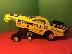 USED RACING CHAMP. JIM DUNN MOONEYES FUNNY CAR 50TH ANNIVERSARY NHRA1:24 Diecast